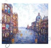 Thitz: Venezia Urban Bag Art, 2019, Acryl und Tüten auf Leinwand,140 x 160 cm